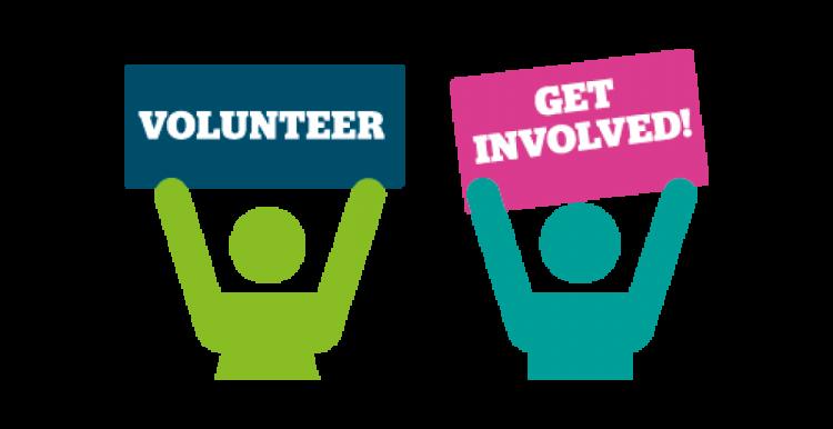 Graphic of volunteer