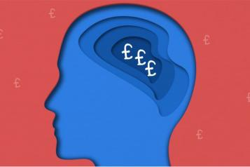 Image of head with brain and £ signs