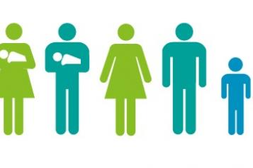 Graphic of family with babies
