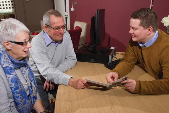 Image of people at the LiveWell Dementia Hub in Thornaby
