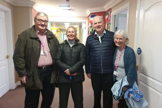 Image of Healthwatch staff and volunteers at a care home