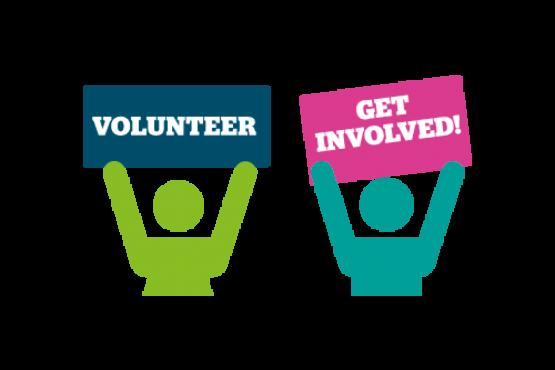 Graphic of volunteers