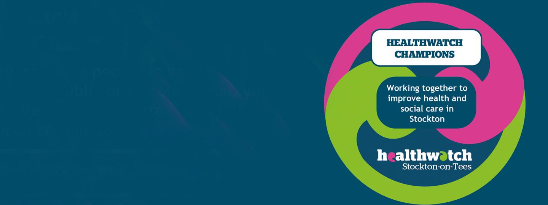 Graphic of Healthwatch Champions logo