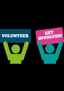 Graphic of volunteering